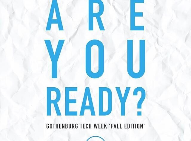 Gbg Tech Week, August 28 - September 4
